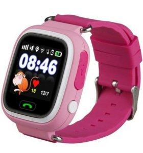 Часы детские умные g 90 синие и розовые черные