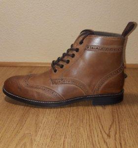Кожаные ботинки-броги Red Tape (новые)