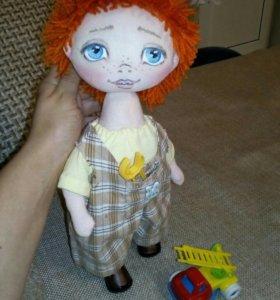 Кукла текстильная Антошка