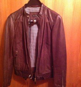 Куртка кожаная Massimo Dutti, новая