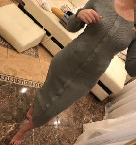 Платье в идеале серое