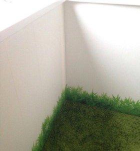 Наклейка на стену трава