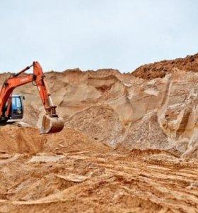 Песок, щебень, земля, грунт с доставкой спб и ло