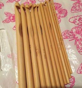 Бамбуковые крючки для вязания