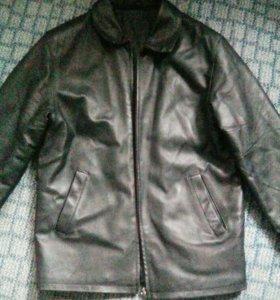 Куртка кожаная муж. Теплая