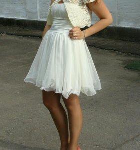 Свадебное платье (короткое) + балеро