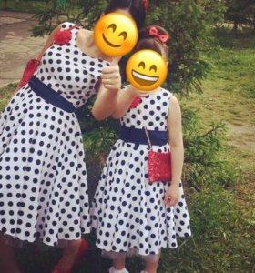 Стиляги платье,мама и дочка