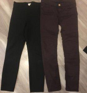 Брюки чёрные джинсы шоколад