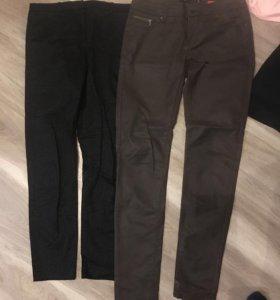 Брюки джинсы в хорошем состоянии чёрные 1раз одела
