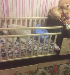 Детская кроватка Кровать-Трансформер