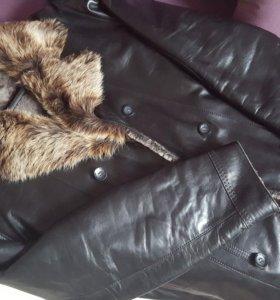 куртка дубленка кожаная