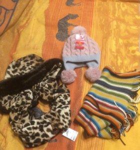 Шапка, капор и шарф