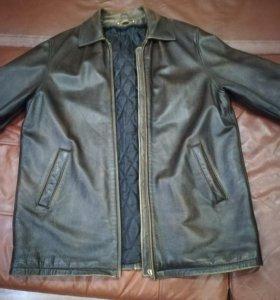 Кожаная куртка р-р 56