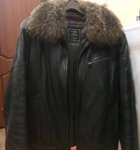 Куртка зимняя кожа