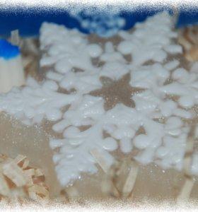 Мыло ручной работы Снежинки 1