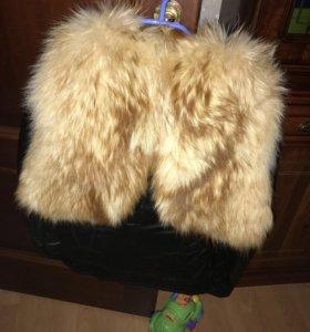 Новая куртка кожаная с мехом