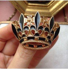 Брошь корона trifari винтаж