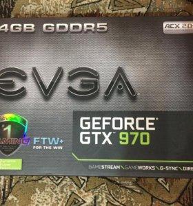EVGA GTX 970 FTW+ GAME + (майнинг)