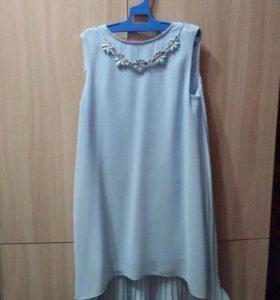Платье голубое возможен торг