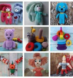 Вязаные игрушки и аксессуары ручной работы