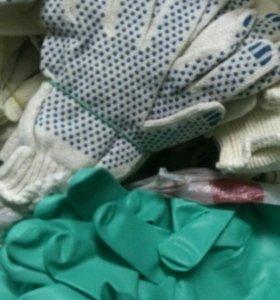 Перчатки рабочие и резиновые