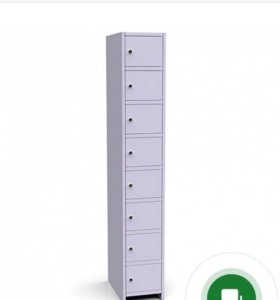 Металлический шкаф на 8 ячеек с замками