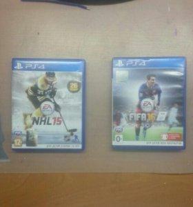 NHL 15 и FIFA 16 на PS4