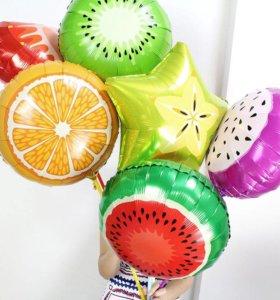 Сочные фольгированные шары с гелием.