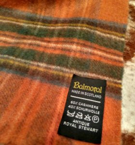 Balmoral Uk scarf casmere кашемир шарф