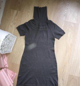 Платье серое трикотаж Inciti
