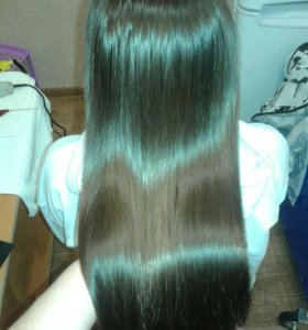 Полировка волос.