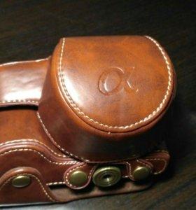 Кожаный чехол для камеры sony a6300/a6500