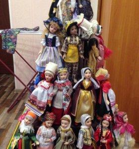 Куклы народов мира + стойка