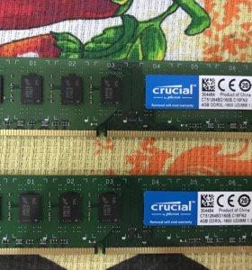 Продам 2 оперативные планки DDR3