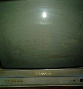 Телевизор соколв рабочем состояниицветной