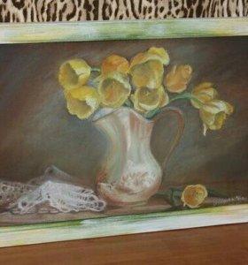 Картины пастелью и акварелью