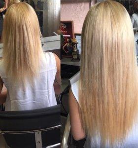 Холодное наращивание волос (ленточное )