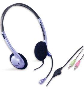 Наушники-стерео с микрофоном Genius HS-02B