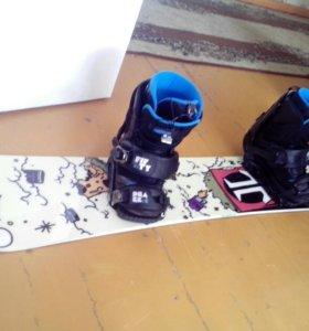 Сноуборд Technine с Ботинками и креплениями