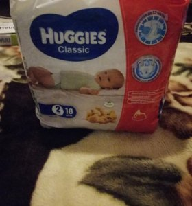 Памперсы Huggies Classic 2