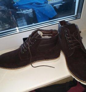 Ботинки мужские замша