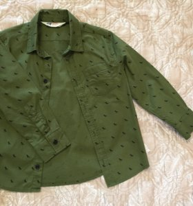 рубашка с динозаврами h&m