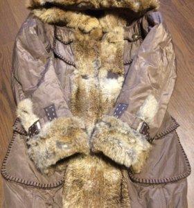 Куртка с натуральный мех зайчий