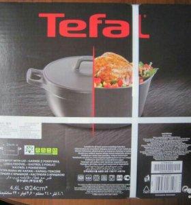 Набор кастрюля+сковорода гриль tefal sensoria
