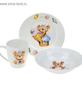 """Набор посуды """"Медвежата"""
