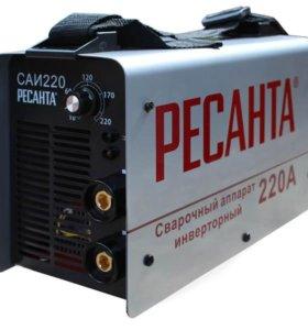 Сварочный инвертор Ресанта саи-220 Масса 5 кг
