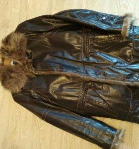 Мужская зимняя кожаная куртка(дубленка)