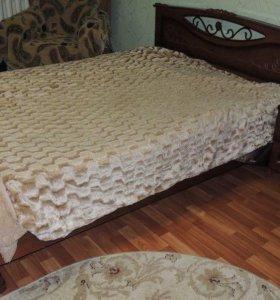 Двуспальная кровать+тумба