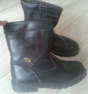 Ботинки мужские подростковые зимние натуральные