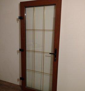 Пластиковая зимняя дверь VEKA